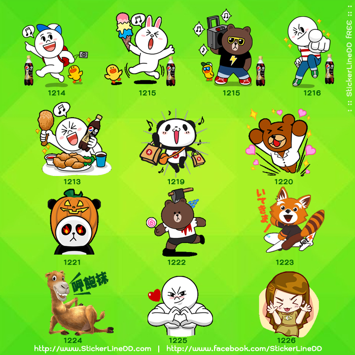 New Line Sticker Free 01-Oct-13