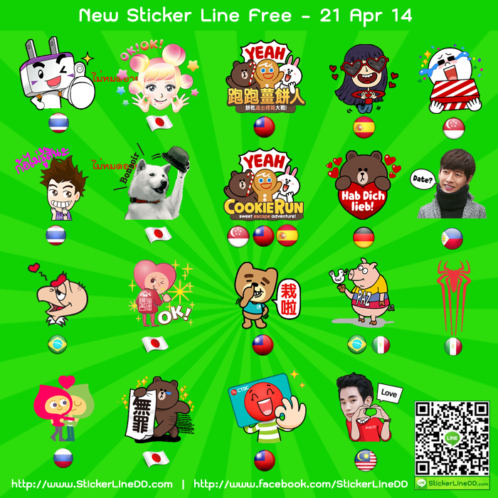 Update New Sticker Line Free - 22.Apr.14