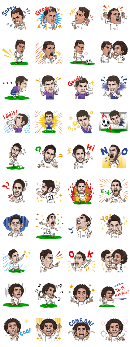 Sicker Line 1274 - Real Madrid's Official Stickers