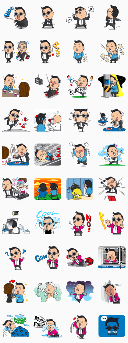 Sticker Line 986 - PSY 2nd SPECIAL EDITION