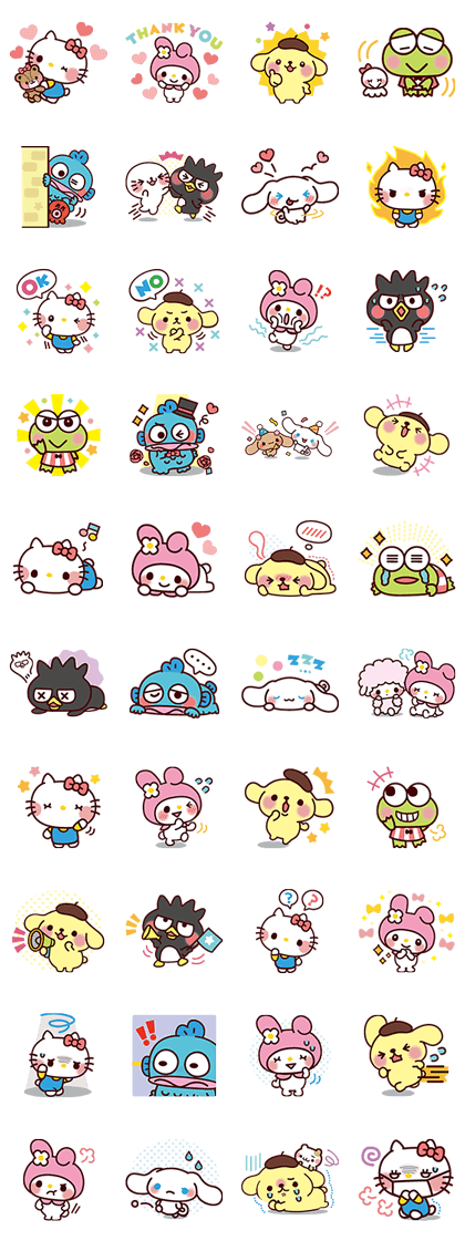 sticker2628-SANRIO CHARACTERS2 (Cartoons)