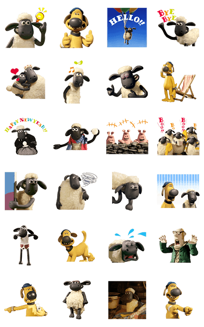 Line3715 Shaun The Sheep Animated Stickers