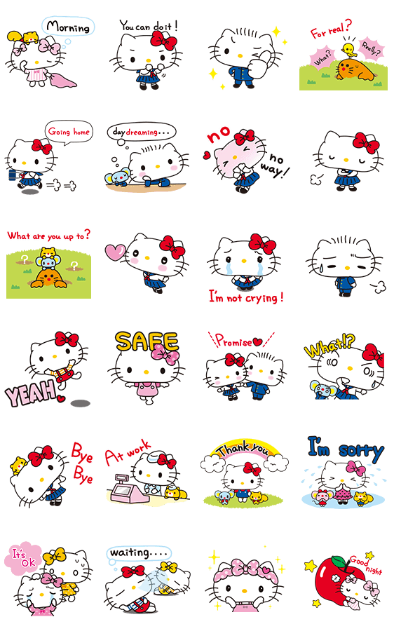Sticker5839-Hello Kitty-Simple and Sweet (English) [ดุ๊กดิ๊ก]