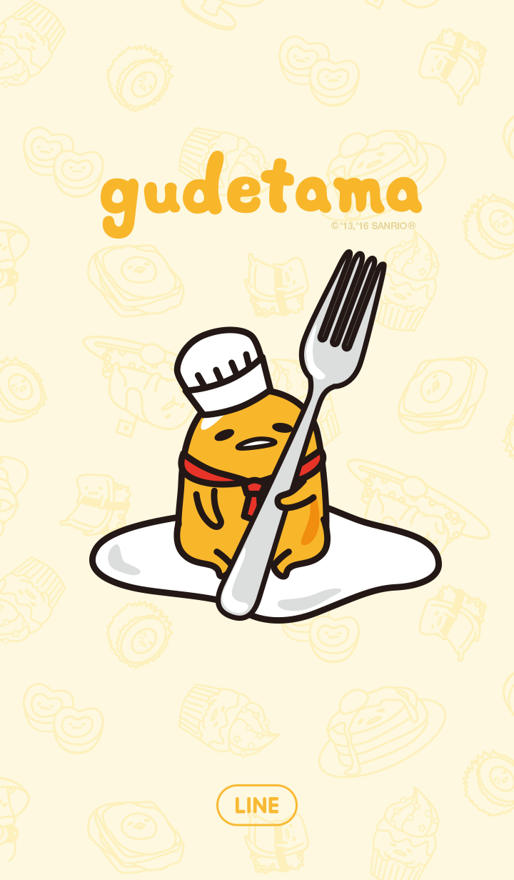 Theme-gudetama in a restaurant