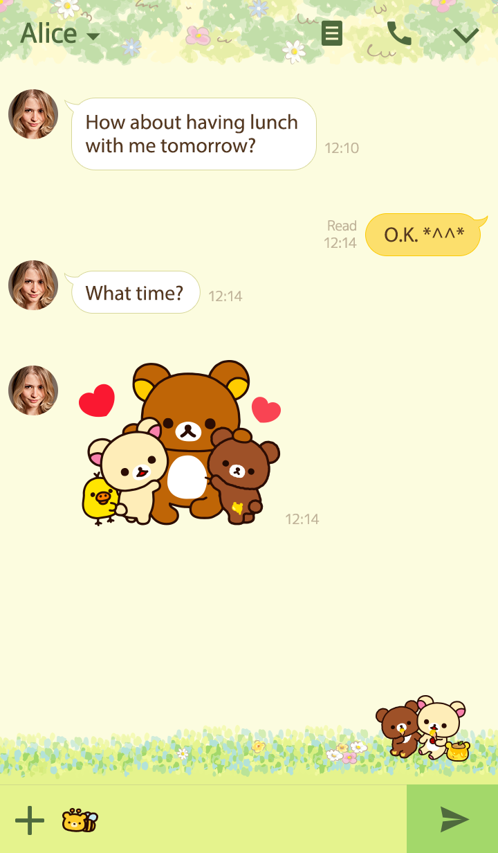 Theme-rilakkuma korilakkuma with a new friend